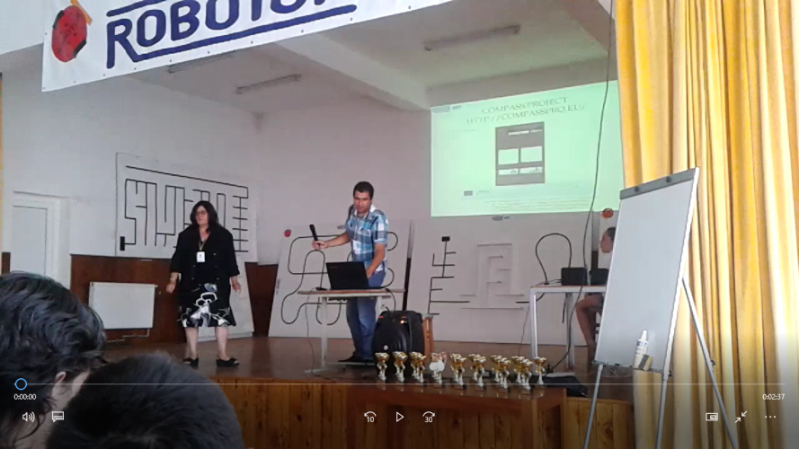 COMPASS project presented at ROBOTOR 2017 Symposium and ROBOTOR 2017 Contest at Orshova, Rumania