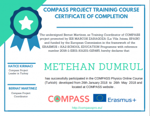 Compass Project certificates – COMPASS project